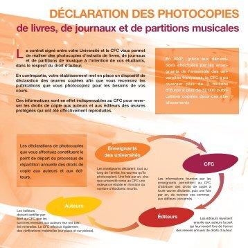DÉCLARATION DES PHOTOCOPIES - DLST