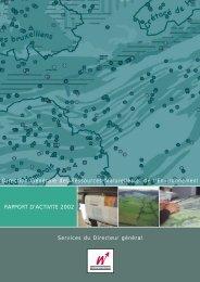 rapport d'activité 2002 - Portail environnement de Wallonie