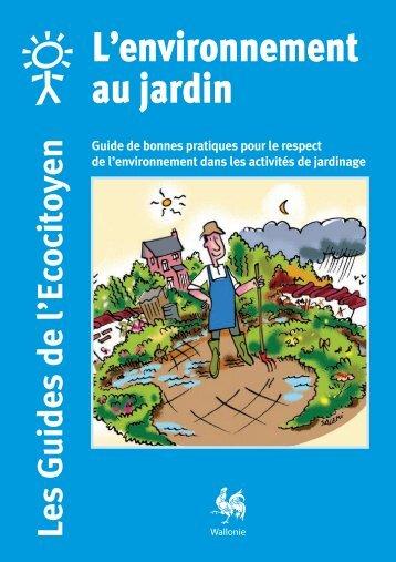 Guide - L'environnement au jardin - Portail environnement de Wallonie