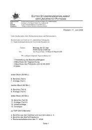 Protokoll der elften Sitzung des 8 - Studierenden-Parlament der ...