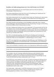 Beschlüsse des Studierendenparlaments der Universität Potsdam ...