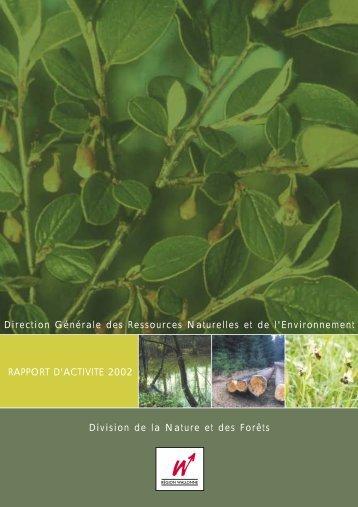(DNF) - rapport d'activité 2002 - Portail environnement de Wallonie