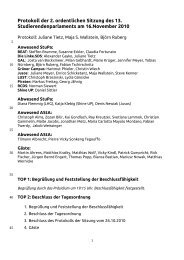 Protokoll der 2 - Studierenden-Parlament der Universität Potsdam