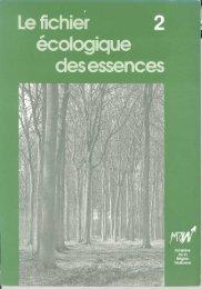 Fichier écologique des essences 2 - Portail environnement de ...