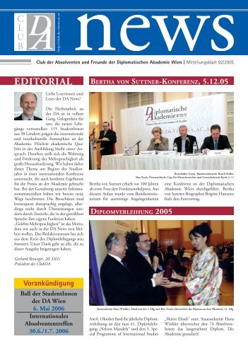 EDITORIAL - Diplomatic Academy Vienna