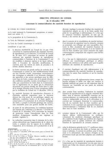 Directive 1999/105/CE - EUR-Lex