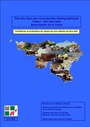 État des lieux Sous-bassin de la Lesse - Portail environnement de ...
