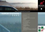 RappoRt d'activités 2005 - Portail environnement de Wallonie