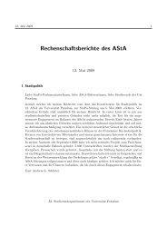 Rechenschaftsberichte des AStA - Studierenden-Parlament der ...