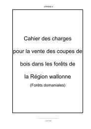 Cahier des charges pour la vente des coupes de bois dans les forêts