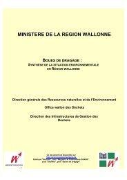 Boues de dragage - Portail environnement de Wallonie