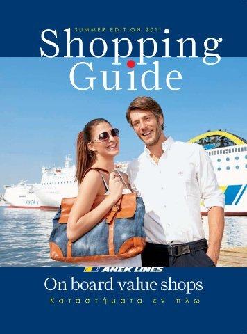 On board value shops - ANEK Lines