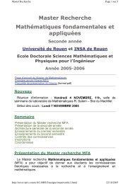 Master Recherche Mathématiques fondamentales et appliquées