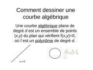 Dessiner une courbe algébrique