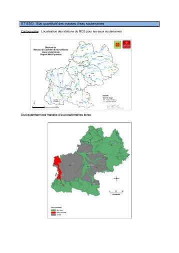 ET-ESO : Etat quantitatif des masses d'eau souterraines - Arpe
