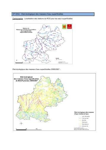 L'état écologique des masses d'eau superficielles - Arpe
