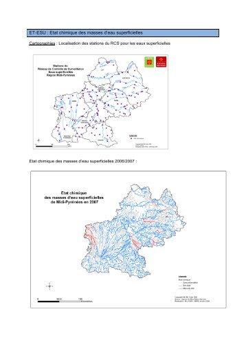 L'état chimique des masses d'eau superficielles - Arpe