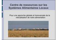 Centre de ressources sur les Systèmes Alimentaires Locaux - Arpe