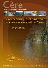 BILAN Technique Cère 1999-2006 - Gest'eau