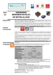 Monomur en bloc de béton allégé - Arpe