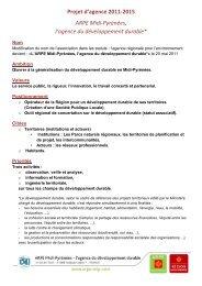 Projet d'agence 2011-‐2015 ARPE Midi-‐Pyrénées, l'agence du ...