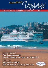 une cible plus large - Brittany Ferries