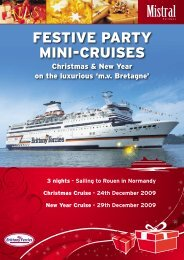 FESTIVE PARTY MINI-CRUISES - Brittany Ferries
