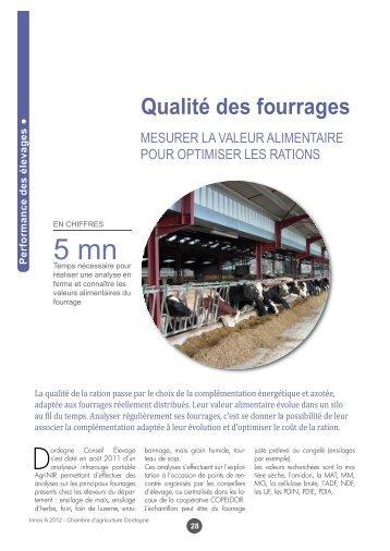 Qualité Des Fourrages   Chambre Du0027Agriculture De La Dordogne