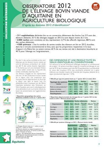 Observatoire 2012 de l'élevage bovin viande d'Aquitaine en ...