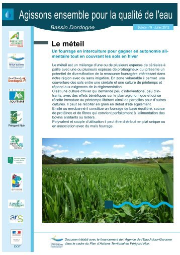 Le Méteil   Chambre Du0027Agriculture De La Dordogne