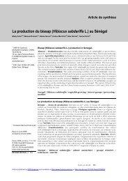 La production du bissap - Génie des procédés appliqué à l'agro ...