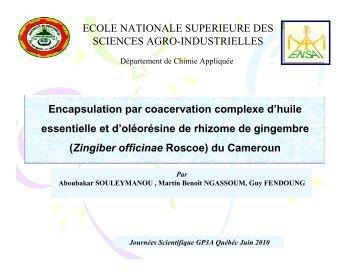 Ngassoum - Génie des procédés appliqué à l'agro-alimentaire - AUF