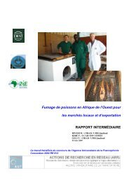 Fumage de poissons en Afrique de l'Ouest - Génie des procédés ...