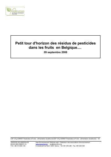 Petit tour d'horizon des résidus de pesticides dans les fruits en ...