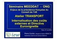 Les coûts externes - Inter-Environnement Wallonie