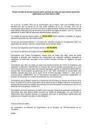 Projet d'arrêté du Gouvernement wallon portant les mesures ...