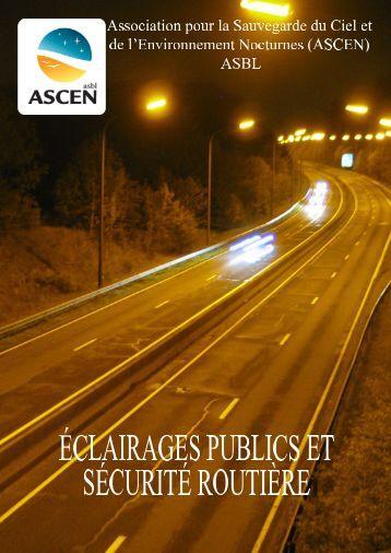 Eclairages et sécurité routière - ASCEN