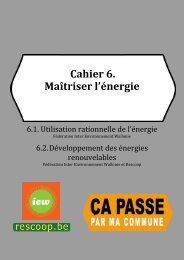Cahier 6 : Maîtriser l'énergie - Inter-Environnement Wallonie