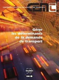 Gérer les déterminants de la demande de transport - International ...