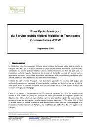 Plan Kyoto transport du Service public fédéral Mobilité et Transports ...