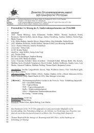zehntes studierendenparlament der universität potsdam - StuPa