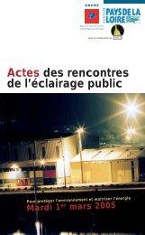 Actes des rencontres de l'éclairage public - Inter-Environnement ...