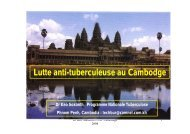 Lutte anti-tuberculeuse au Cambodge - IFMT