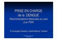 Dengue_Prise en charge Laos
