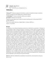 Mélioïdose - (572 ko) - Institut de la francophonie pour la ...
