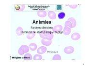 Anémies : objectifs