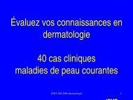 Évaluez vos connaissances en dermatologie 40 cas cliniques ...