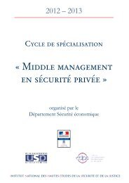« Middle management en sécurité privée » - inhesj