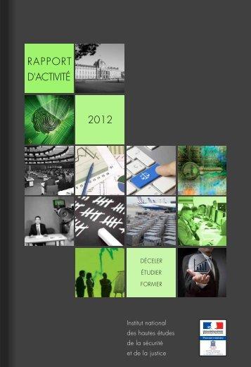 RAPPORT D'ACTIVITÉ 2012 - inhesj