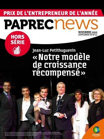 « Notre modèle de croissance récompensé » - Groupe Paprec
